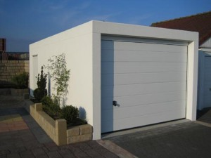 Prefab garage bouwen for Prefab one car garage